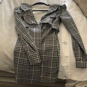 Lovers & Friends checkered button up dress